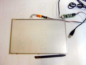 USB外付けのタッチパネル基盤